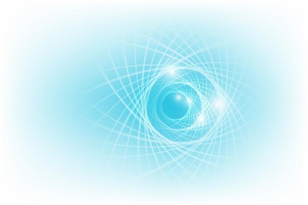 Abstracte achtergrond van heldere gloeiende deeltjes en paden