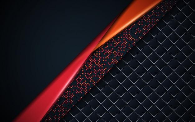 Abstracte achtergrond van het luxe de donkerblauwe kader met schittert element