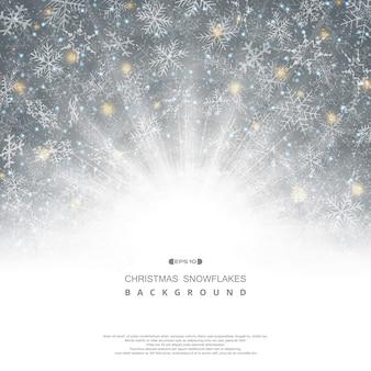Abstracte achtergrond van kerstmis sneeuwvlokken patroon