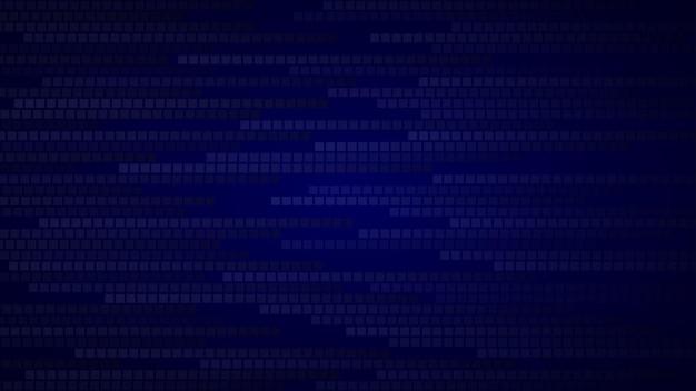 Abstracte achtergrond van kleine vierkanten of pixels in donkerblauwe tinten