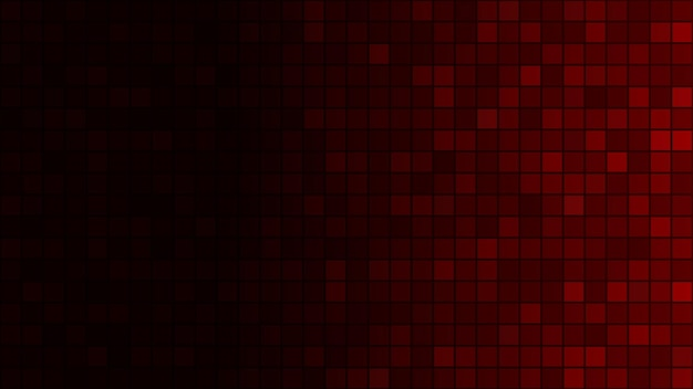 Abstracte achtergrond van kleine vierkantjes in donkerrode kleuren met horizontaal verloop