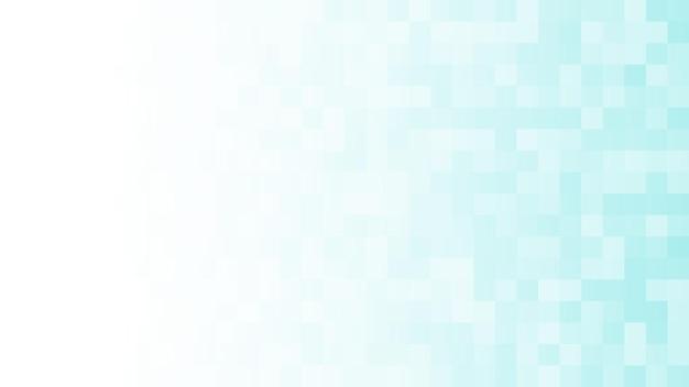 Abstracte achtergrond van kleine vierkantjes in lichtblauwe kleuren met horizontaal verloop