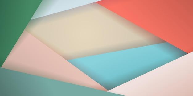 Abstracte achtergrond van kleurrijke veelhoeken met schaduwen
