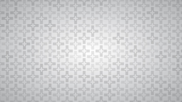 Abstracte achtergrond van kruisen in grijstinten