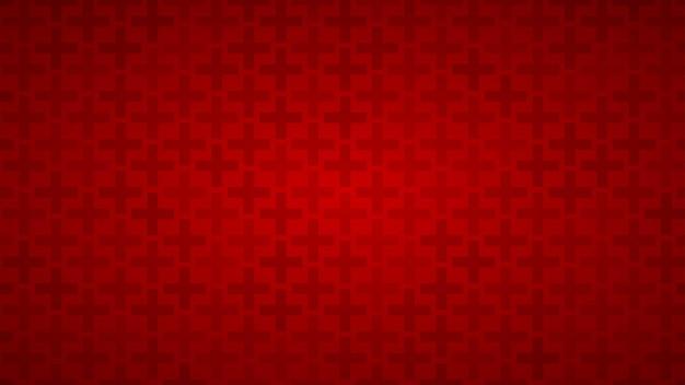 Abstracte achtergrond van kruisen in rode tinten