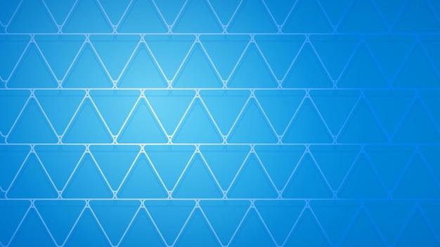 Abstracte achtergrond van kruisende driehoeken met schaduwen in lichtblauwe kleuren