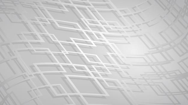 Abstracte achtergrond van kruisende vierkanten met schaduwen in grijze kleuren