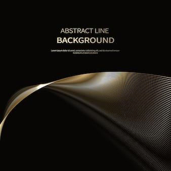 Abstracte achtergrond van luxe gouden lijnen brochure poster achtergrond