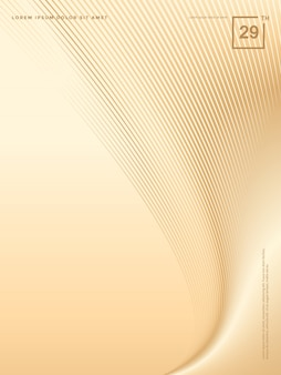 Abstracte achtergrond van luxe gouden lijnen, brochureachtergrond