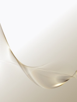 Abstracte achtergrond van luxe gouden lijnen