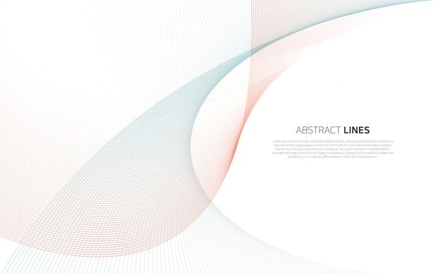 Abstracte achtergrond van luxekleurlijnen