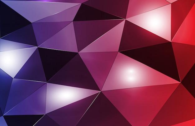 Abstracte achtergrond van moderne veelhoekdriehoek met heldere vlek