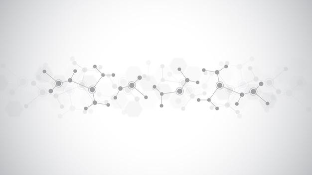 Abstracte achtergrond van moleculaire structuren