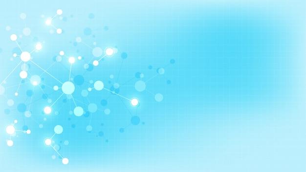 Abstracte achtergrond van moleculen. .
