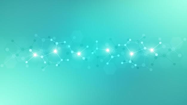 Abstracte achtergrond van moleculen