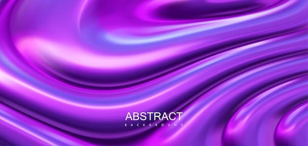 Abstracte achtergrond van paars glanzend oppervlak met golvende rimpelingen