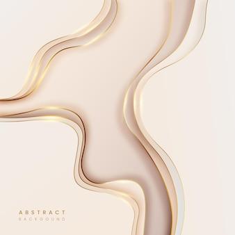 Abstracte achtergrond van pastelton met gouden lijn