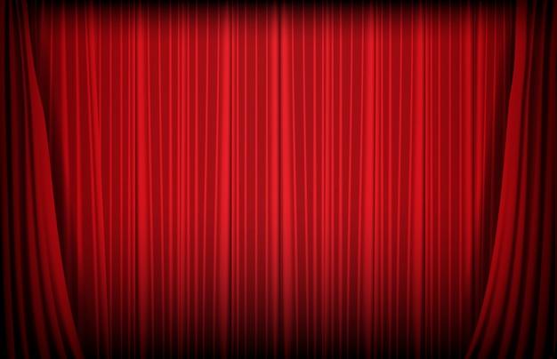 Abstracte achtergrond van rood gordijn