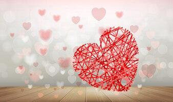 Abstracte achtergrond van rood hart.