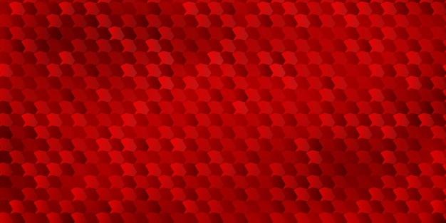 Abstracte achtergrond van veelhoeken die aan elkaar zijn gepast, in rode kleuren