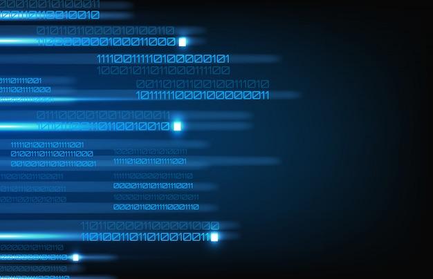 Abstracte achtergrond van verzendend programmerend binair getal
