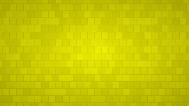 Abstracte achtergrond van vierkanten in gele tinten