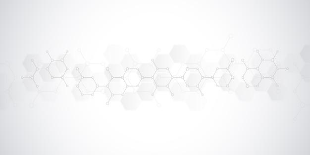Abstracte achtergrond van wetenschap en innovatietechnologie.