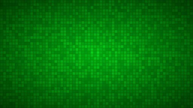 Abstracte achtergrond van zeer kleine vierkantjes of pixels in groene kleuren.
