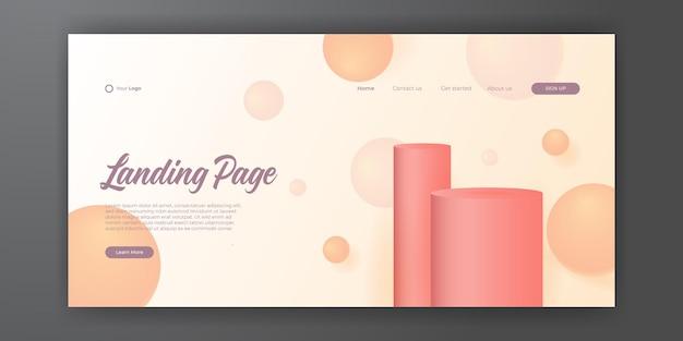 Abstracte achtergrond voor bestemmingspagina websjabloon. trendy abstracte ontwerpsjabloon. dynamische gradiëntsamenstelling voor omslagen, brochures, flyers, presentaties, banners. vector illustratie.