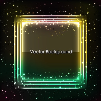 Abstracte achtergrond voor ontwerp met glanzend frame