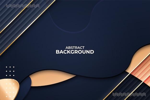 Abstracte achtergrond vormen dynamisch met gouden lijn