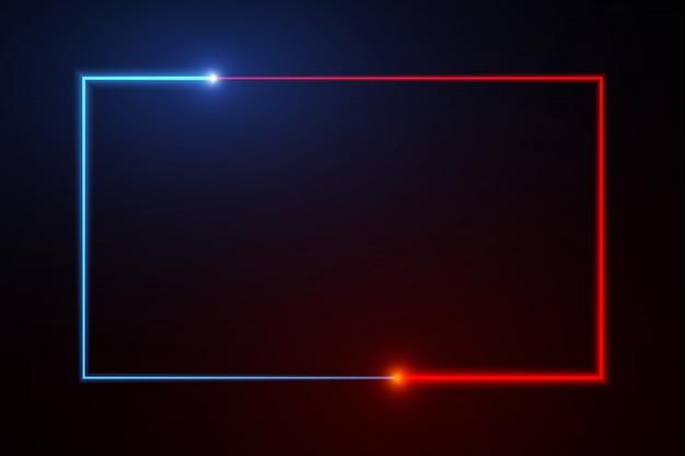 Abstracte achtergrond web neon doos patroon led schermen projectie technologie.