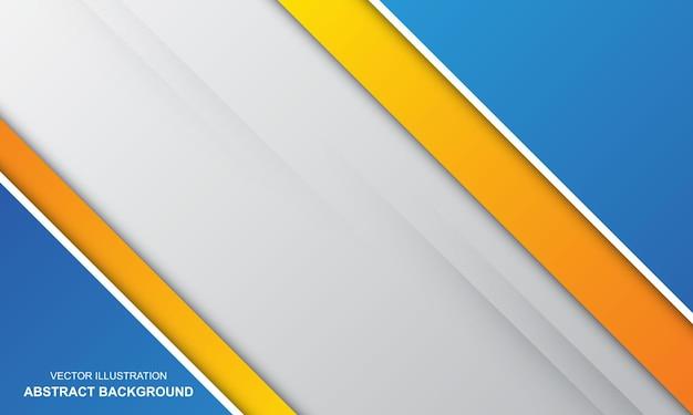 Abstracte achtergrond wit wit oranje en blauwe kleur