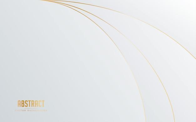 Abstracte achtergrond witte en grijze kleur met gouden lijnkleur.