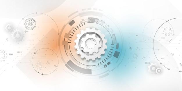 Abstracte achtergrondaffiche met dynamisch. technologie netwerk vector illustratie.