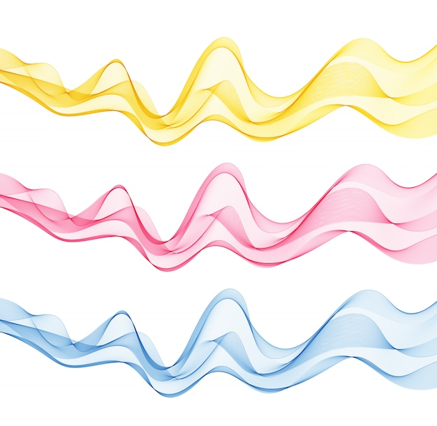 Abstracte achtergronden met veelkleurige golven.