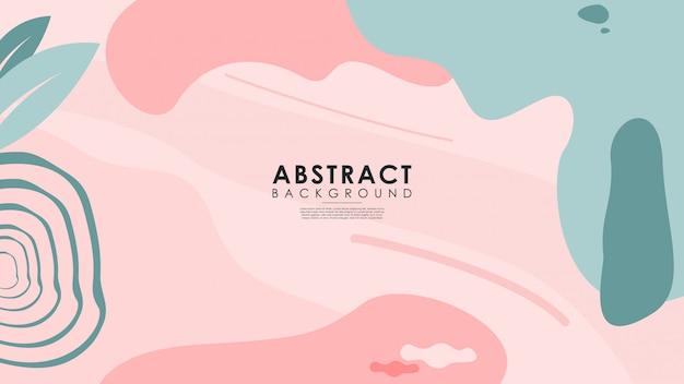 Abstracte achtergronden van verschillende schattige vormen