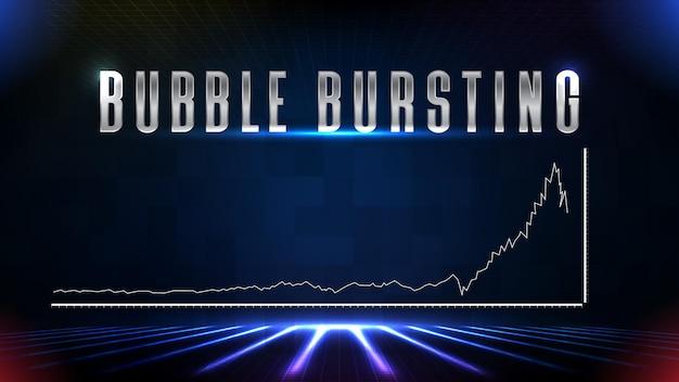 Abstracte achtergrondgeluid van beursinvesteringen vallende zeepbel barsten