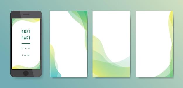 Abstracte achtergrondillustratiereeks