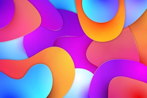 Abstracte achtergrondlagen kleuren Gratis Vector