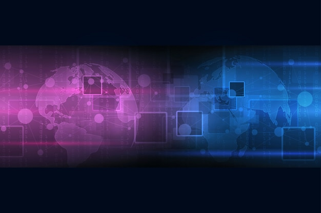 Abstracte achtergrondtechnologie. grote gegevensvisualisatie. cyber digitaal concept van veiligheid.
