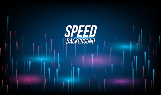 Abstracte achtergrondtechnologie hoge snelheid racen voor sporten van lange blootstelling licht op zwart