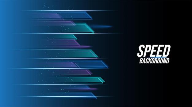 Abstracte achtergrondtechnologie met hoge snelheid racen voor sporten van lang belichtingslicht