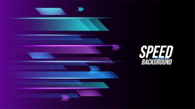 Abstracte achtergrondtechnologie met hoge snelheid racen voor sporten van lang belichtingslicht Premium Vector