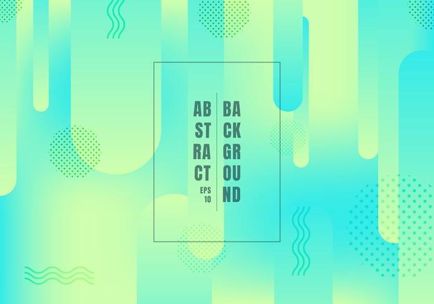 Abstracte afgeronde vormen lijnen groene en blauwe achtergrond.
