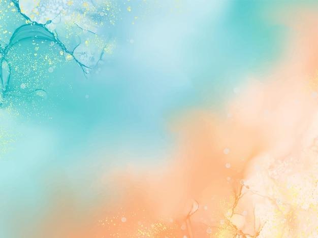 Abstracte alcohol inkt textuur marmeren stijl achtergrond. eps10 vector illustratie ontwerp.