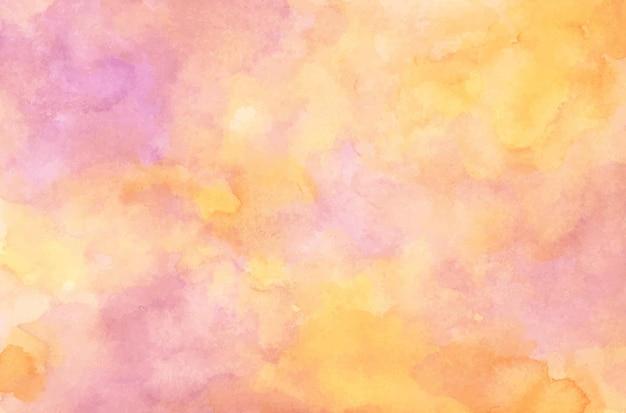 Abstracte aquarel achtergrond. geel en roze.