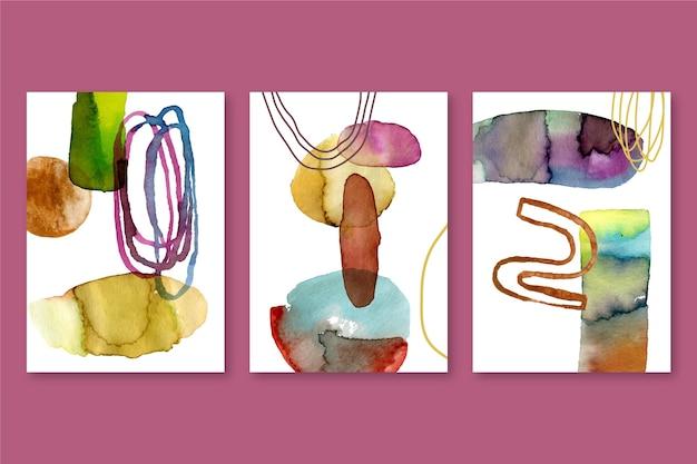 Abstracte aquarel covers pack