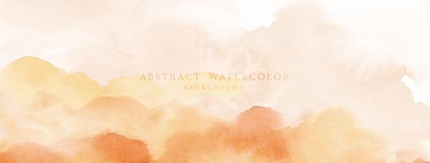 Abstracte aquarel handgeschilderd. oranjegele aquarelvlekken