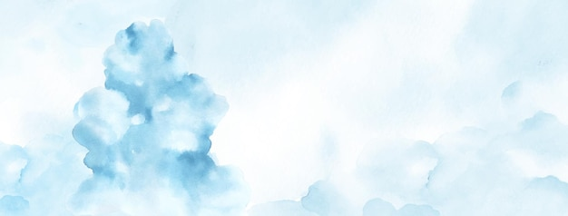 Abstracte aquarel handgeschilderd voor achtergrond. lichtblauwe aquarelvlekken vectortextuur is ideaal voor element in het decoratieve ontwerp van kop-, omslag- of zomerbanner, penseel opgenomen in bestand. Premium Vector